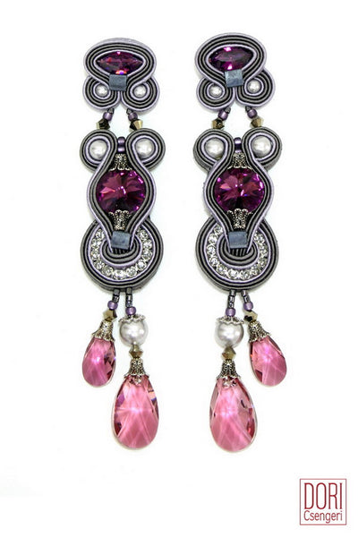 Rhapsody Crystal Drop Earrings