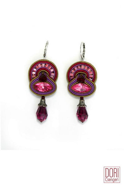 Cerise Dangling Earrings