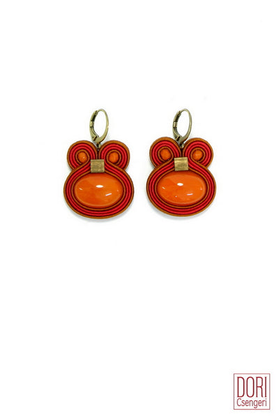 Fusion Red Earrings