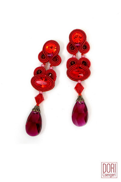 Scandal Ruby Dangle Earrings