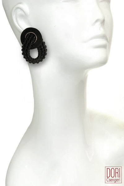 Amelie Unique Black Earrings