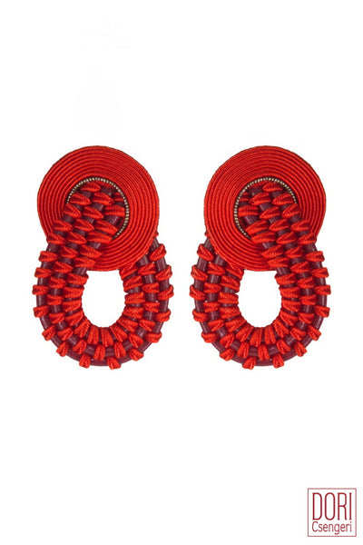 Amelie Unique Red Earrings