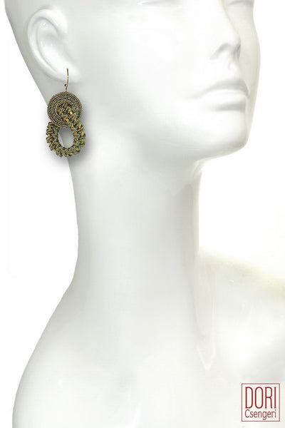 Amelie Elegant Old Gold Earrings