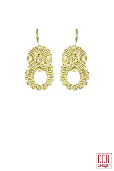 Amelie Exceptional Off White Gold Earrings