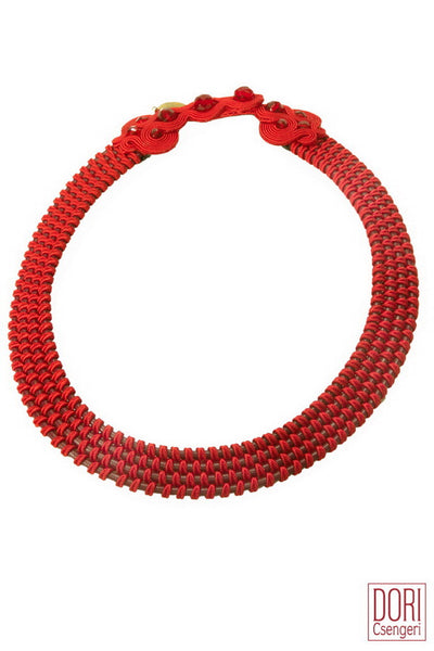 Amelie Trendy Red Collar necklace