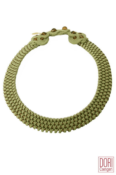 Amelie Trendy Grey-Green Collar Necklace