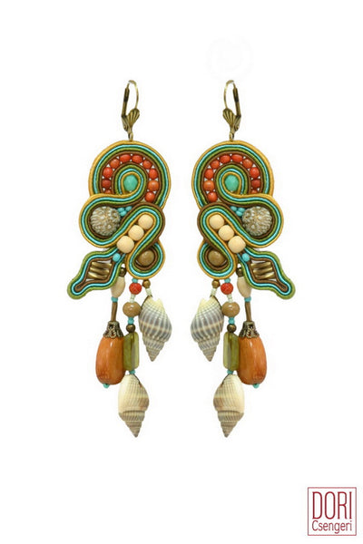 Eilat Resort Dangling Shell Earrings