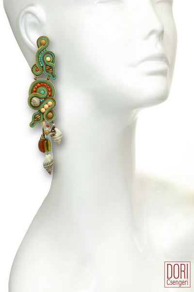 Eilat Resort Showstopper Shell Earrings