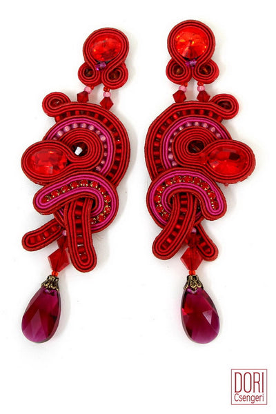 Scandal Red Statement Earrings