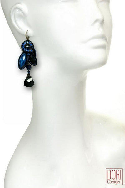 Blue Glam Drop Earrings