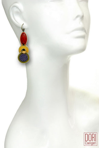 Bossa Nova Jewel Tone Earrings