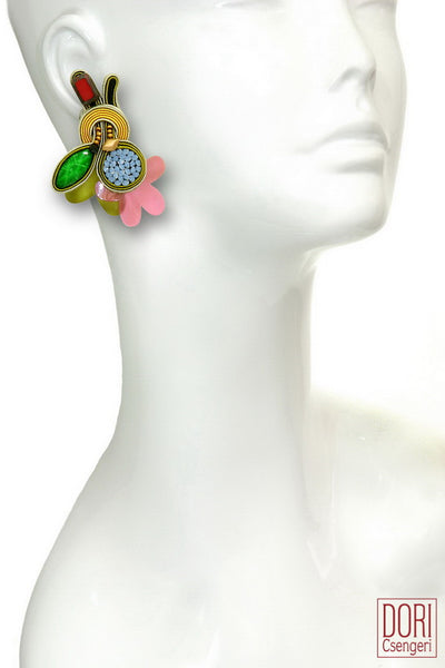 Bossa Nova Clip On Earrings