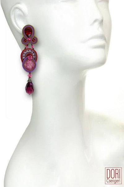 Cerise Drop Earrings