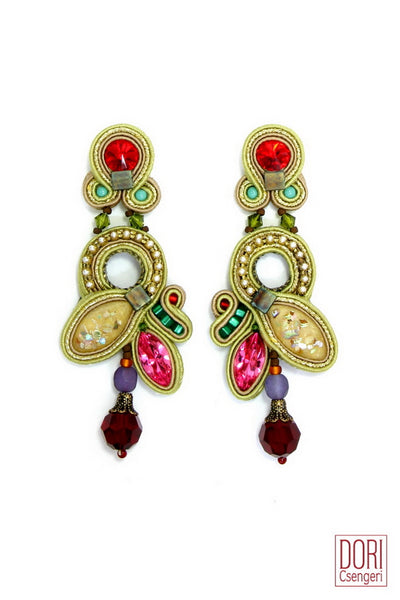 Maharajah Gem Colors Earrings