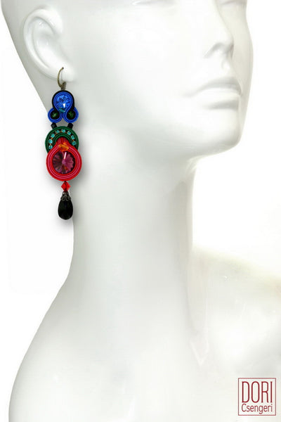 Fantaisie Jewel Tones Earrings