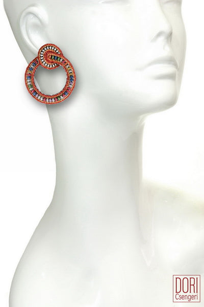 Fireworks, Clip-on Hoop Earrings