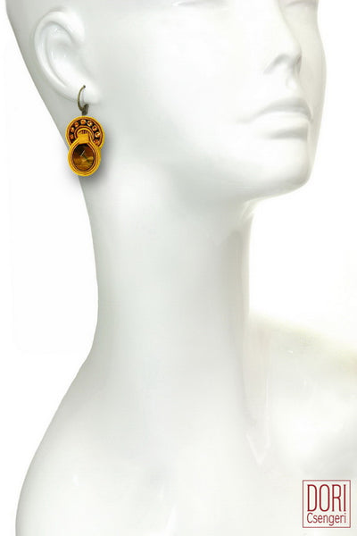 Lucia Tiger's Eye Earrings