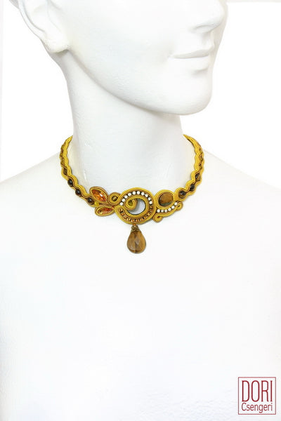 Lucia Yellow Choker