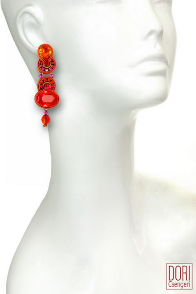 Radiance Orange Earrings