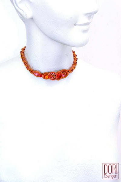 Radiance Orange Choker