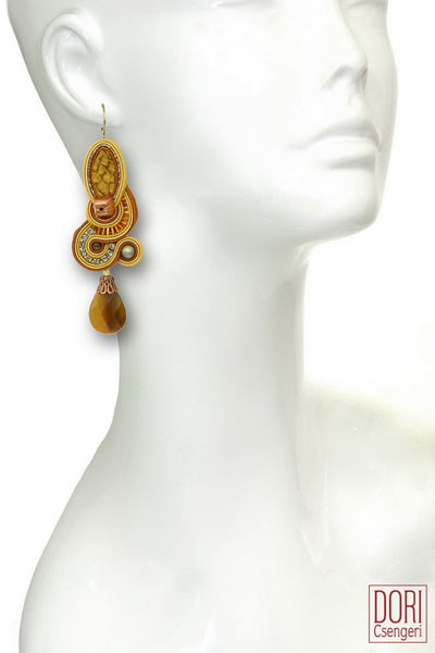 Samba Tiger Eye Earrings