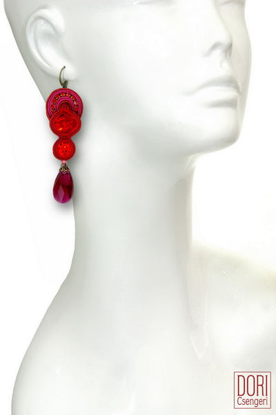 Scandal Red Earrings