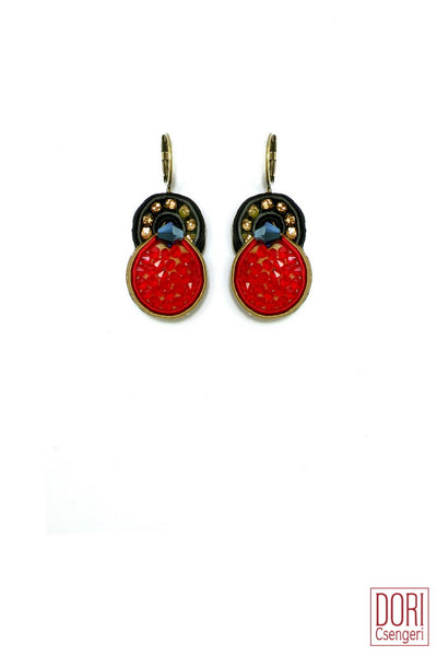 Venetian Dream Red Earrings