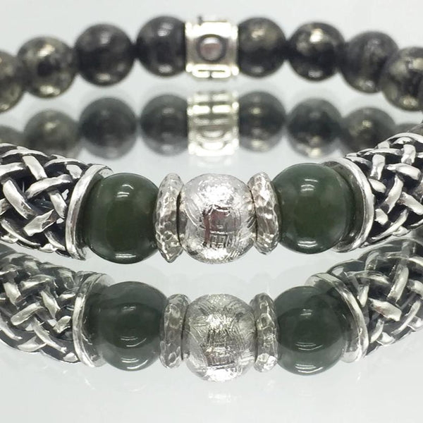 Shoto, Armband, Braclets, Jade, Eisenmeteroit, handcrafted, Made in Germany