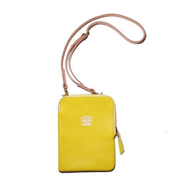 Superior Labor Japan, Leather Pochette yellow, Handmade handcrafted Gift