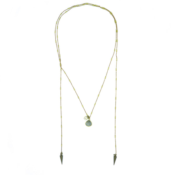 Baies d'Erelle CAIA CAECILIA–GODDESS OF FIRE & HEARTH, tie necklace