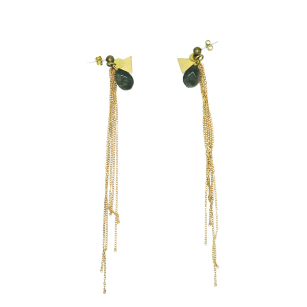 Baies d'Erelle SIN – THE LIGHT LONG Rauchquarz earring, Ohrstecker