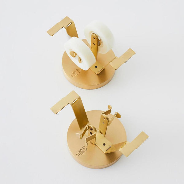 2THICKNESS-Double-Tape-Dispenser-Brass-Design-handcrafted-in-South-Korea