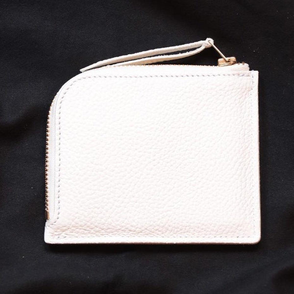 Superior Labor Japan zip half wallet white Handmade handcrafted gift