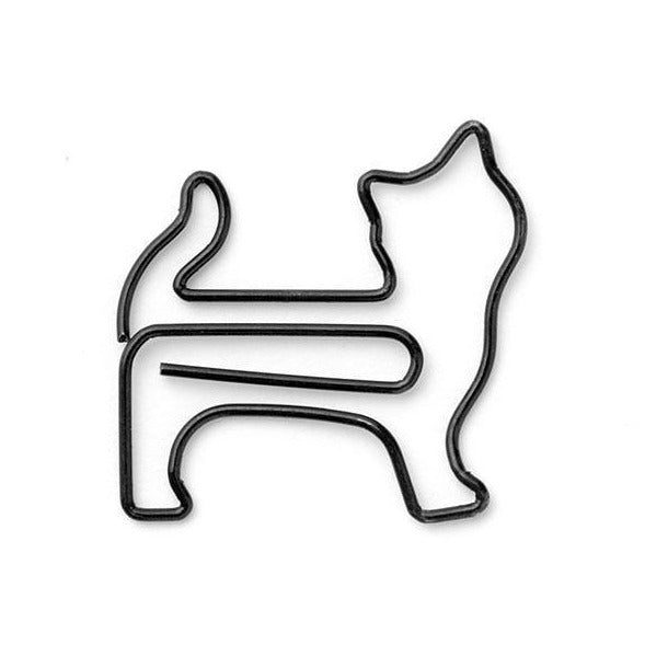 MIDORI D-CLIPS STANDING CAT Büroklammern Animal Cat Paperclip Design