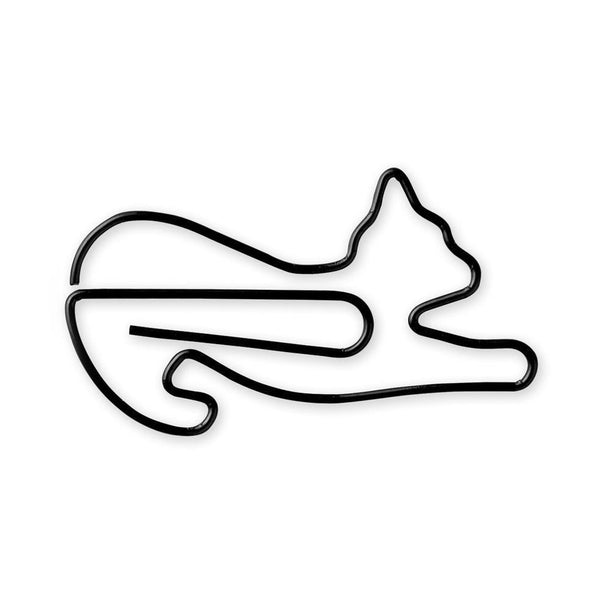 MIDORI D-CLIPS STRETCHING CAT Büroklammern Animal Cat Paperclip Design