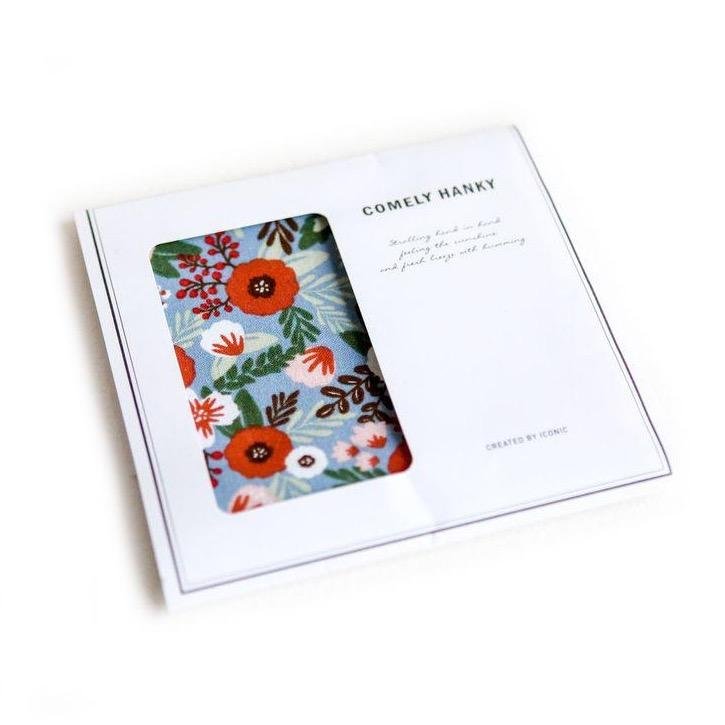 ICONIC COMELY HANKY Blooming Made in Korea Geschenk Gift Nikkituch