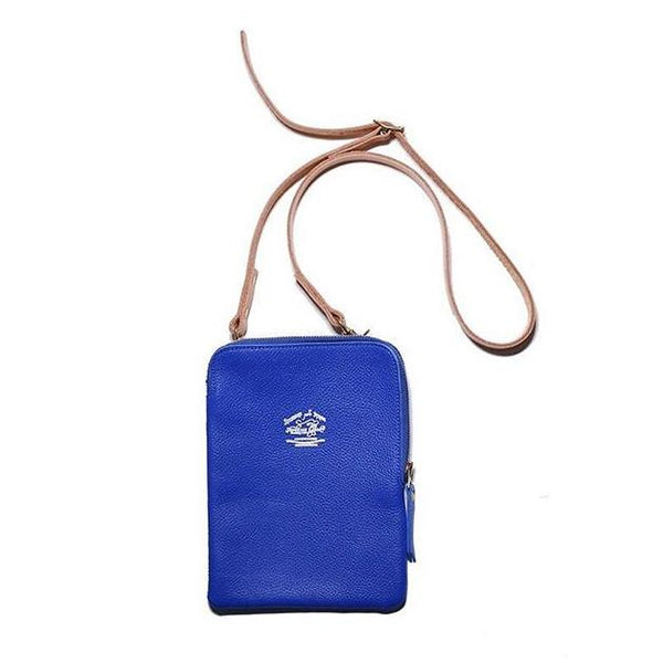 Superior Labor Japan, Leather Pochette blue, Handmade handcrafted Gift