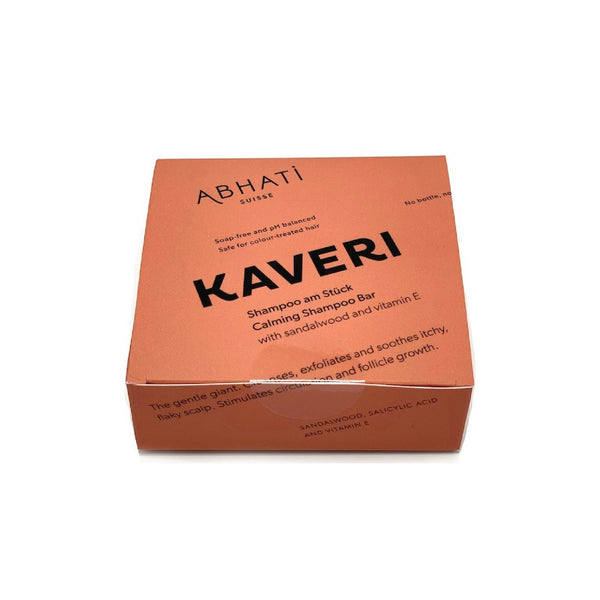 KAVERI Calming Shampoo Bar Abhati Suisse hair shampoo vegan no waste