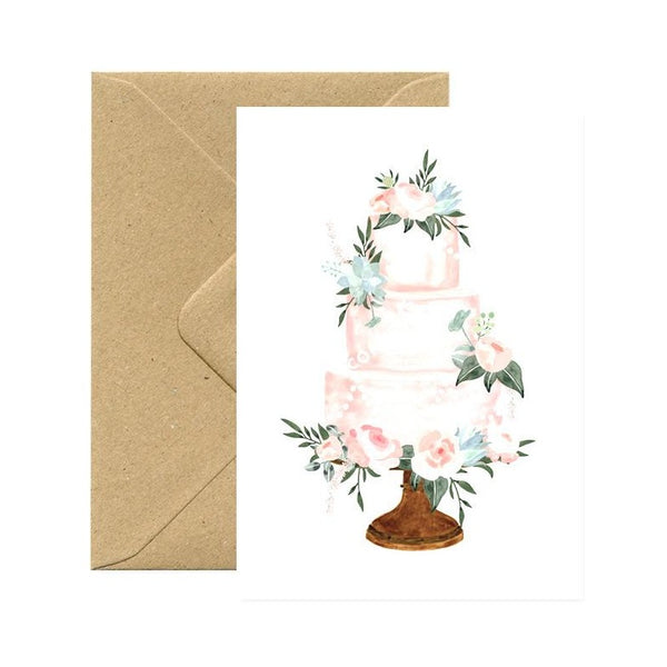 ALL THE WAYS TO SAY WEDDING CAKE Greeting Card, Karte Made in France