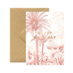 ALL THE WAYS TO SAY, Happy Birtday Pink Forest Karte, Made in France