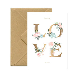 ALL THE WAYS TOS AY, SENDING LOVE TO YOU Greeting Card Karte Made in France