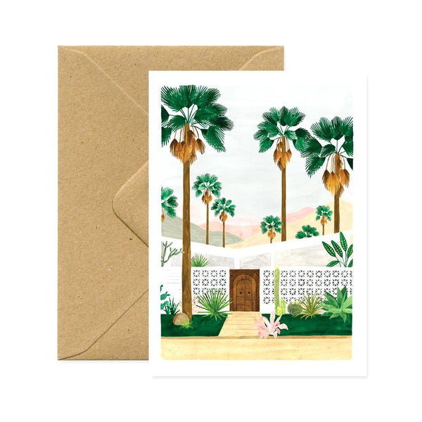 ALLTHEWAYSTOSAY PALM SPRINGS Greeting Card Grusskarte Made in France