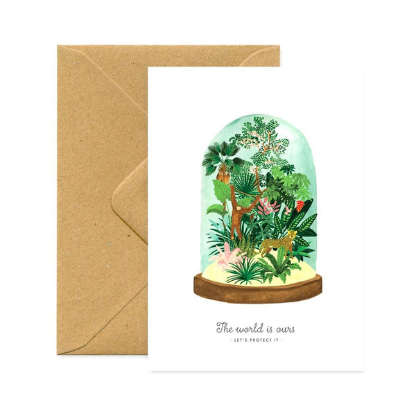 ALLTHEWAYSTOSAY, WORLD PROTECT, Greeting Card, Karte, Made in France