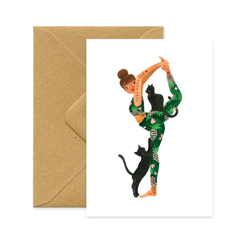 ALL THE WAYS TO SAY, YOGA FOREVER Greeting Card, Karte Made in France