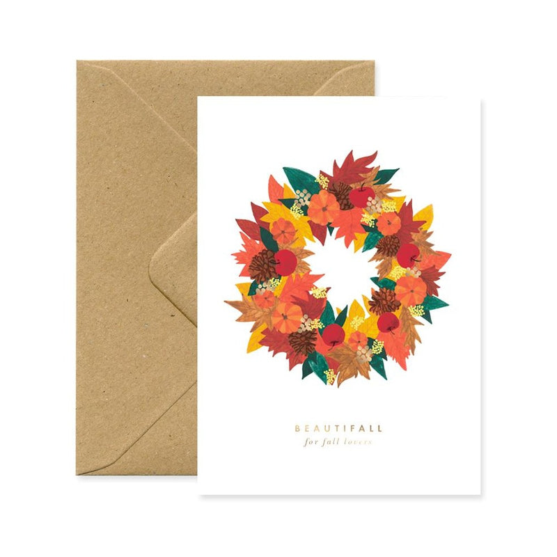 ALLTHEWAYSTOSAY BEAUTIFALL LEAVES Xmas Greeting Cards Made in France