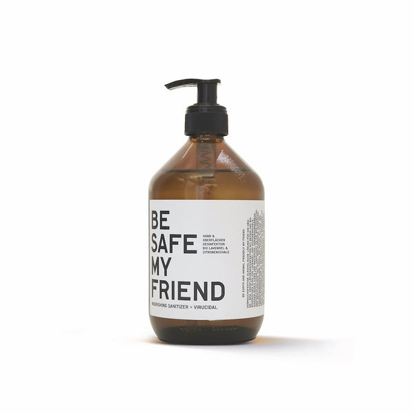 BE […] MY FRIEND, BE SAFE natural sanitizer Desinfektionsmittel vegan