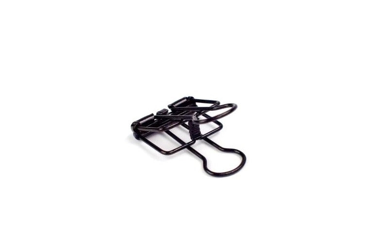 TOOLS TO LIVEBY, WIRE CLIPS 19 black, Feder Stahl, Design, Decoration