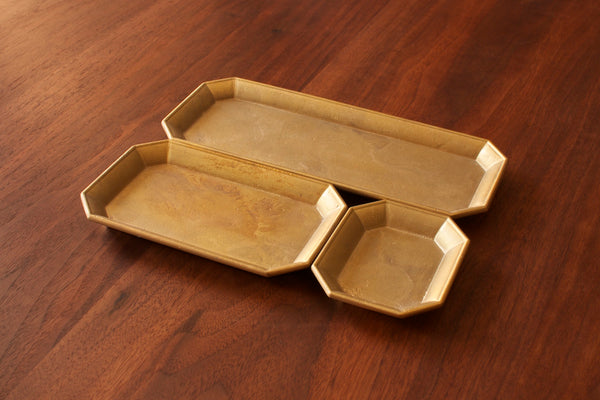 FUTAGAMI - IHADA Stationery Tray Guss-Messing Handmade in Japan