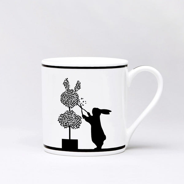 HAM, PORZELLANTASSE, Gardening rabbit, Tea Mug, Gift idea, handpainted