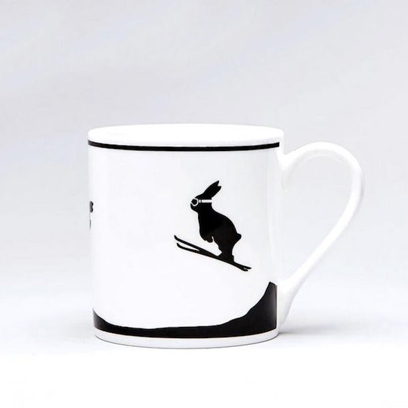 HAM PORZELLANTASSE Ski Jumping Rabbit Tea Mug Gift idea handpainted